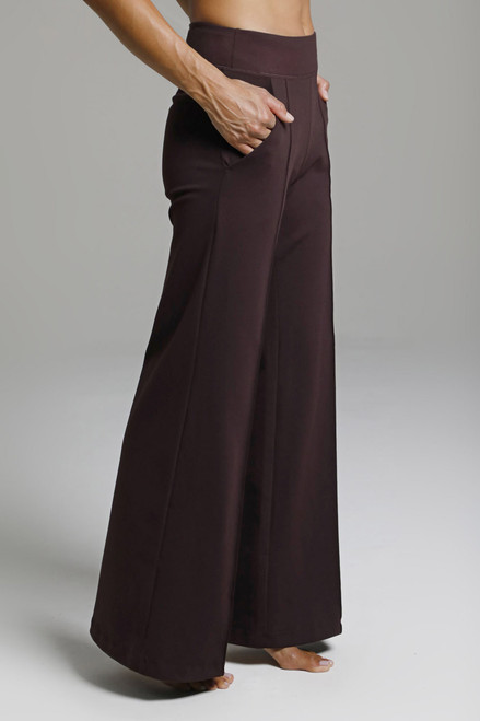 Elegant Wide Leg Flared Yoga Bottoms Fall