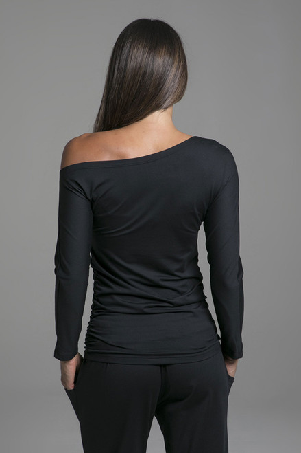 One Shoulder Long Sleeve Pullover Loungewear back view