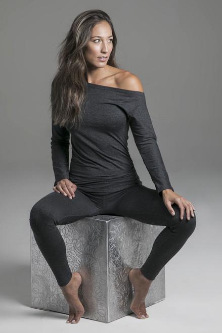 Charcoal Grey Loungewear Activewear Set