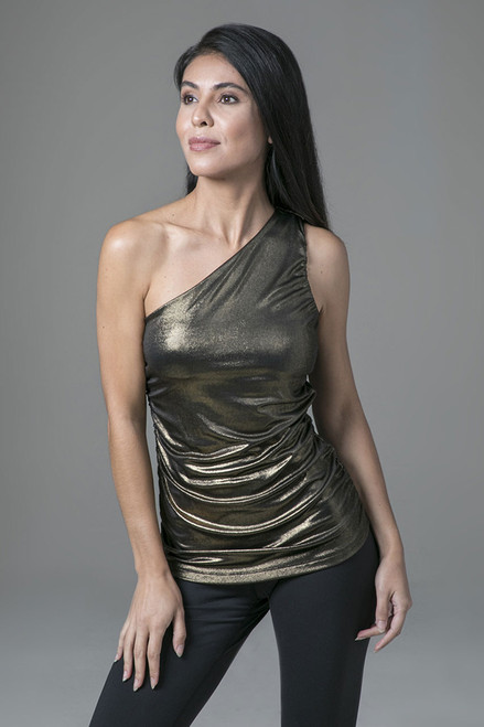 Shiny Tank in Gold Shimmer
