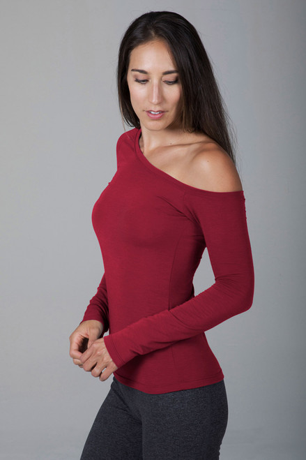Off the Shoulder Top side view