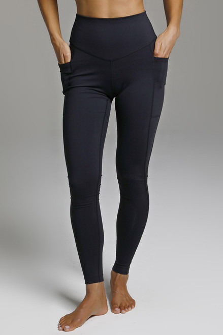 High Waist Black Yoga Leggings with Pockets