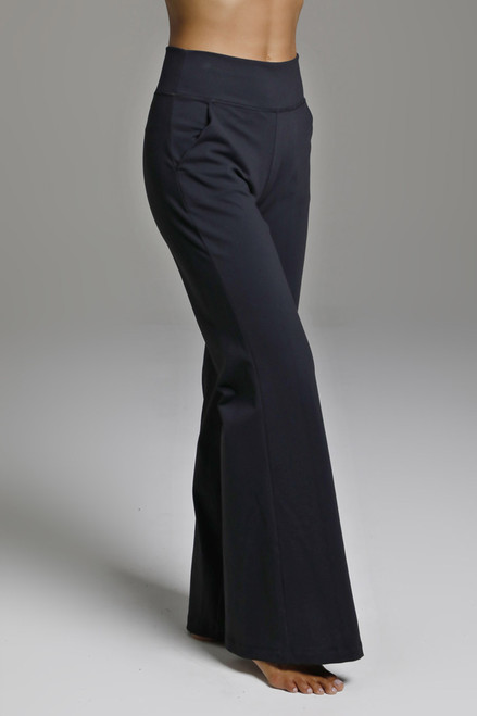Perfect Flare Wide Leg Yoga Bottom in Black