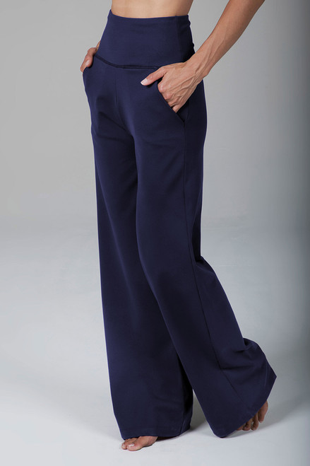 High Waist Wide Leg Pant (Marine Navy)
