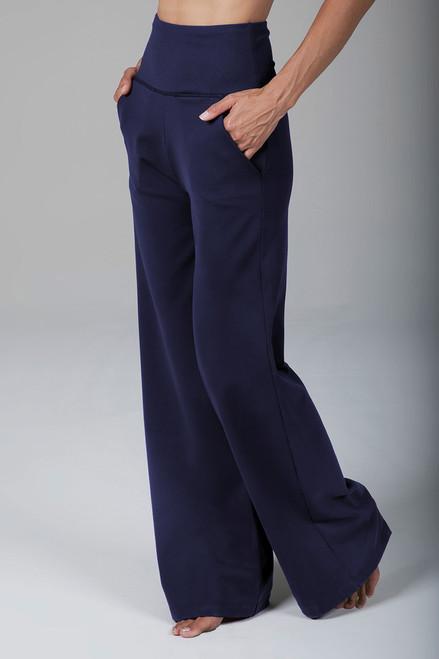 High Waist Wide Leg Pant (Marine Navy)