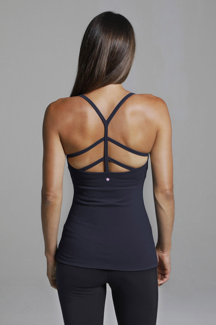 Warrior Y-Back Yoga Tank (Black) back strappy design