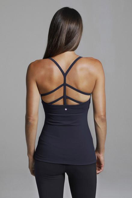 Warrior Y-Back Yoga Tank (Black) back strappy design