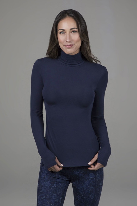 Grace Yoga Turtleneck Marine Navy