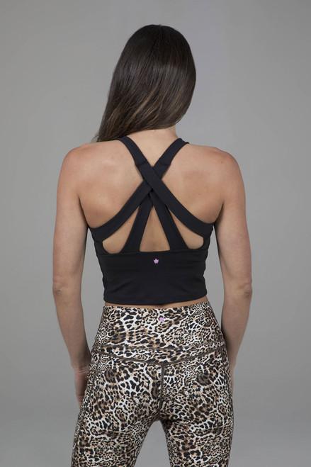 Kathryn Midi Yoga Tank (Black)