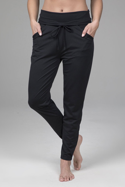 Easy Foldover Jogger in Black