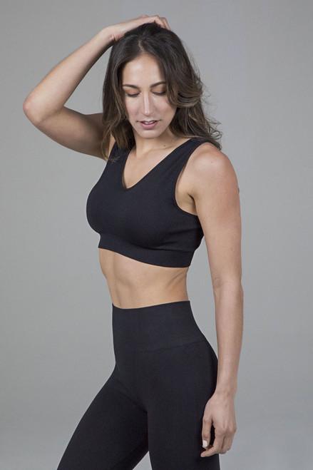 Seamless V-Neck Yoga Bra