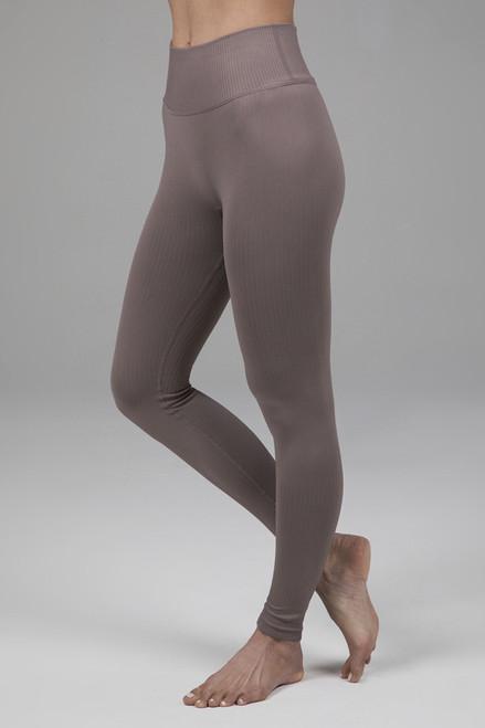 Ribbed seamless yoga leggings