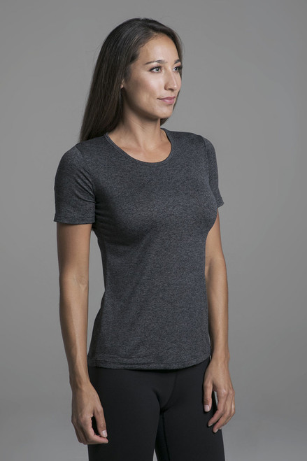 Classic Performance Tee in Charcoal Heather