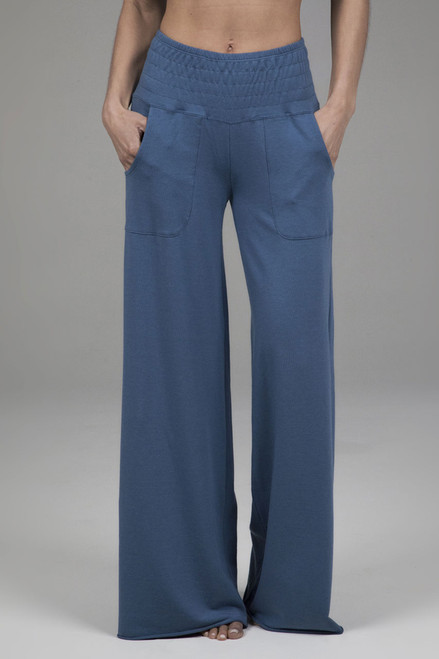 light blue flowy yoga pant