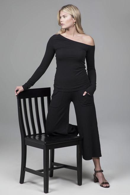 KiraGrace Cozy Boho Crop Yoga Pant (Black)