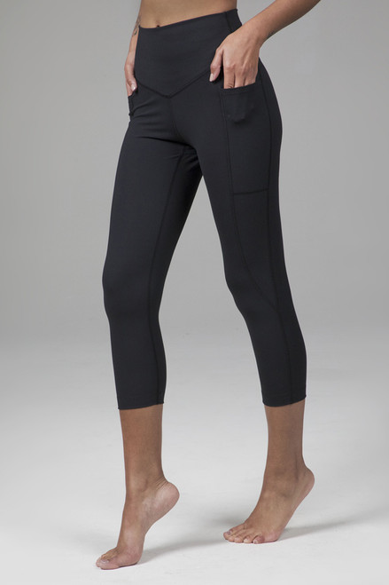 High Waist Sculpting Capri Yoga Leggings