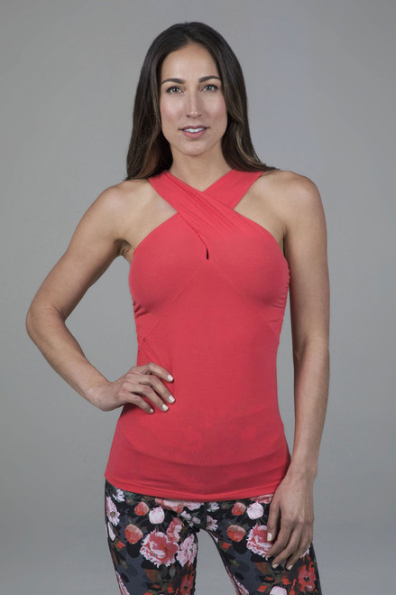 KiraGrace Luxe Halter in Coral Pink