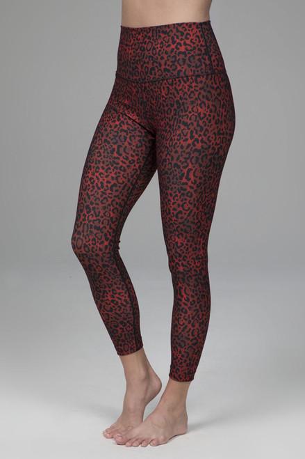 Renew Ultra High Waist 7/8 Yoga Legging (Red Leopard)