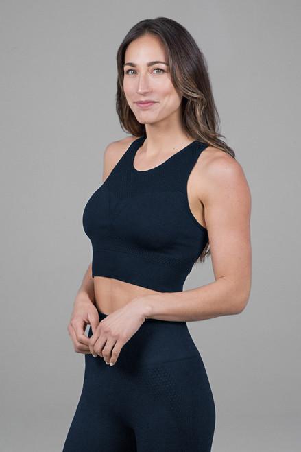 sports yoga bra in navy