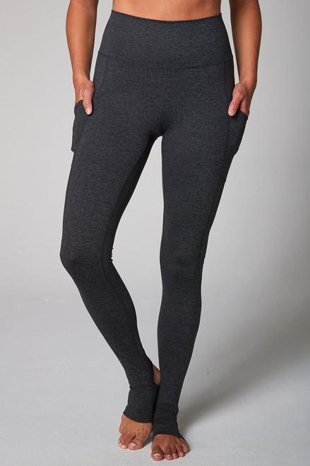 Cozy Footie Yoga Legging (Charcoal Heather)