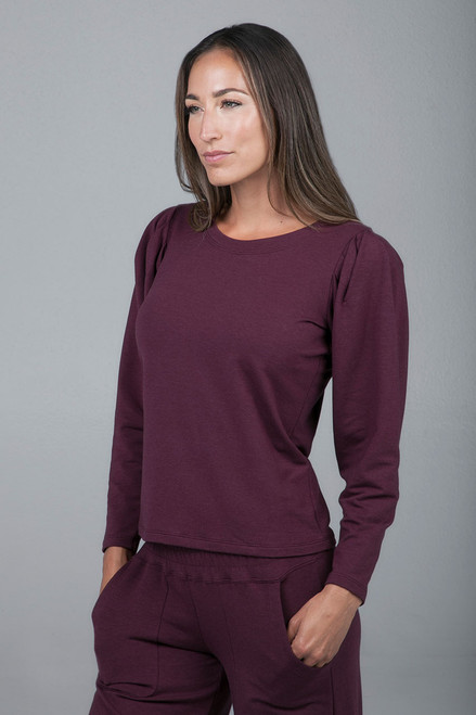 plumberry yoga sweater