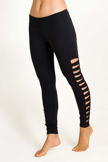 Black Warrior Tough Cut Out Yoga Tight Leggings