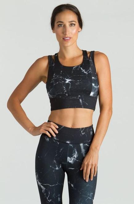 KiraGrace Grace Yoga Crop Top in black onyx