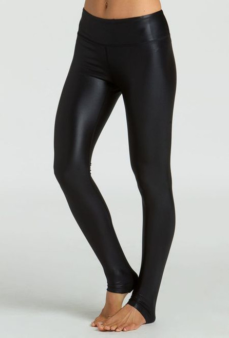 030f4749c3f4e KiraGrace Grace High Waisted Yoga Leggings in Black Lacquer. Sale. Quick  view
