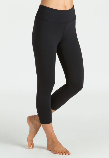 KiraGrace Grace High-Waisted Yoga Capri in Black