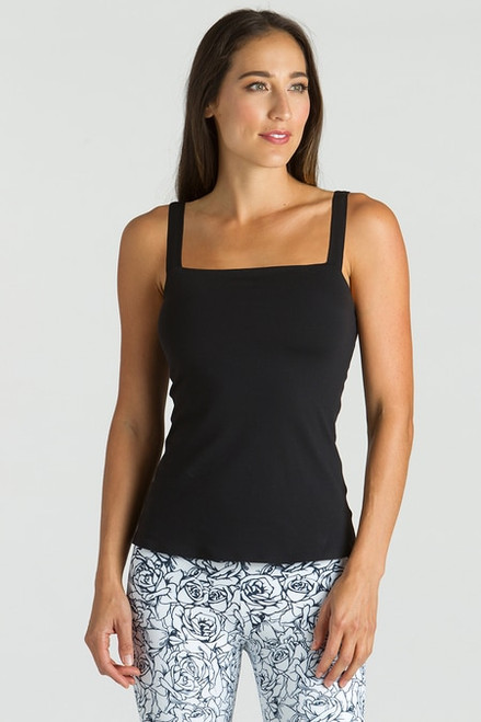 KiraGrace Grace Refined Yoga Cami in Black