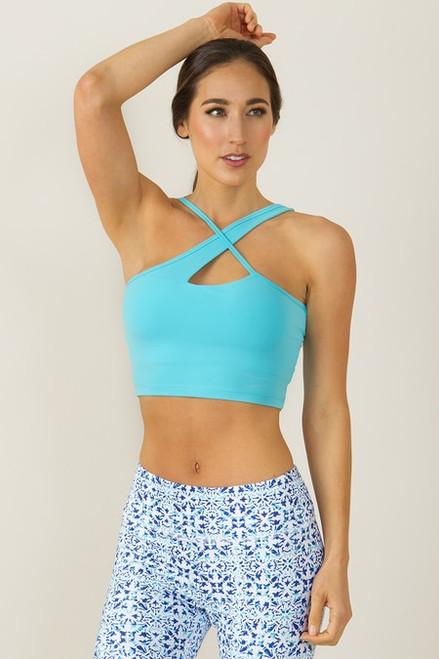 Warrior Victoria Yoga Crop (Calypso blue)