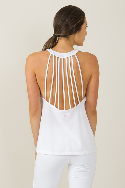 KiraGrace Santorini White Yoga Halter Top