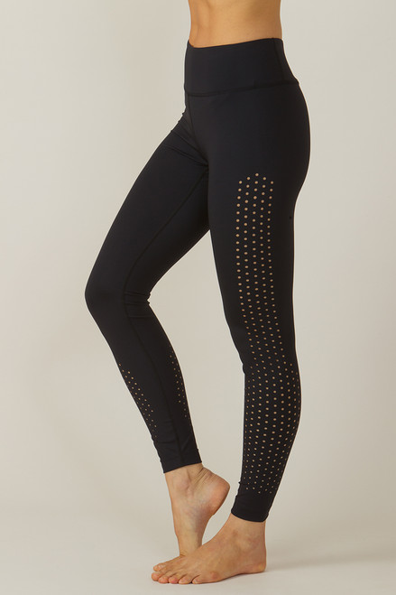 KiraGrace Warrior Dot Lasercut Yoga Legging