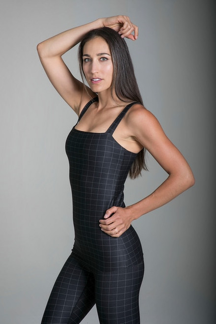 Grace Refined Yoga Cami in Windowpane print