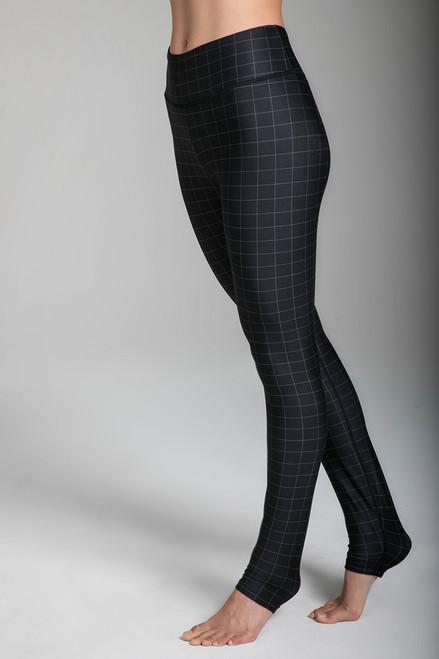 Grace High-Waisted Yoga Legging in Windowpane print