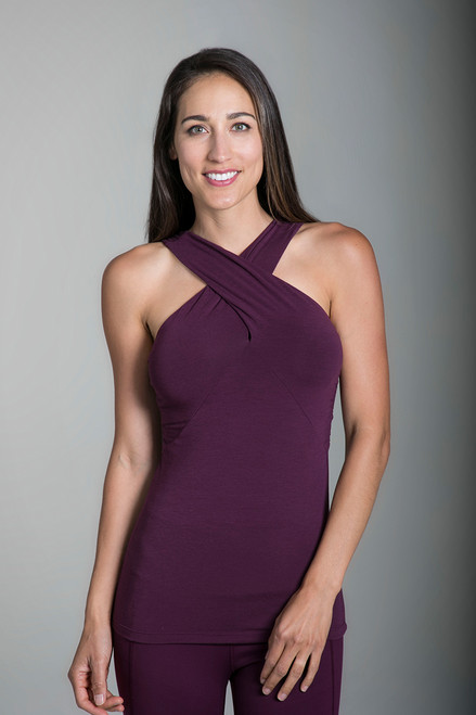 Goddess Luxe Halter in Moulin Rouge