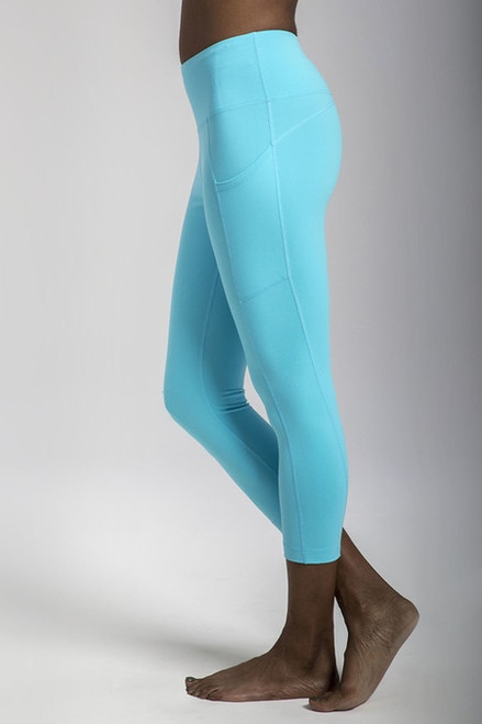 Ultra High Waist Pocket Yoga Capri (Calypso)