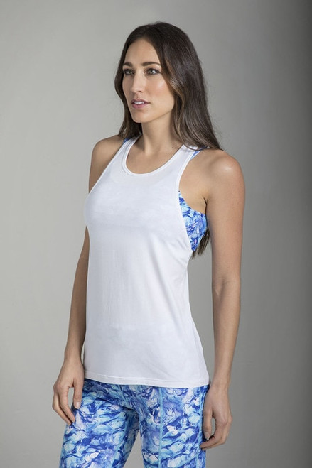 Relaxed Racerback Yoga Tank (White)
