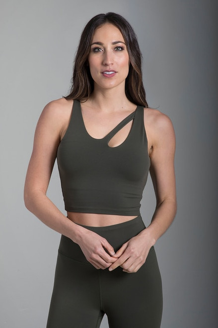 Seva Warrior Crop Top (Olive)