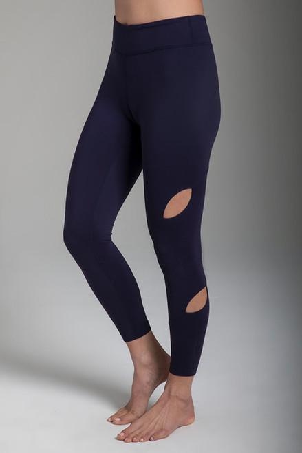 Warrior Tiffany Seva Yoga Legging in Navy