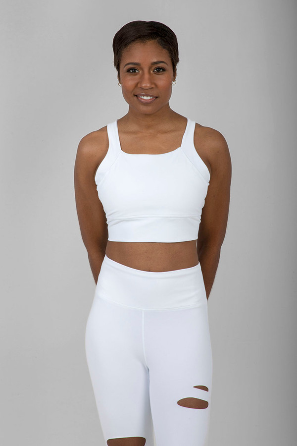 Kathryn Yoga Bra (White)