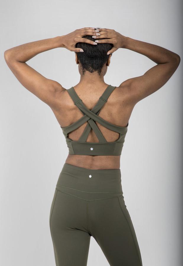 Kathryn Yoga Bra (Olive)
