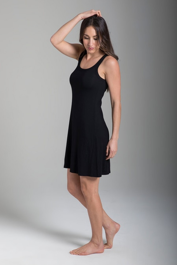 Easy Tank Yoga Dress (Black)