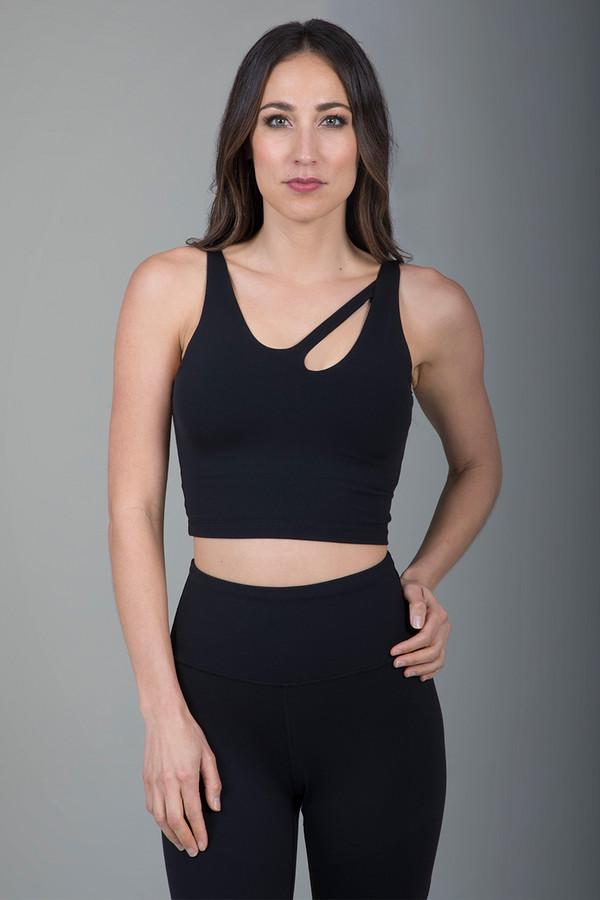 Seva Warrior Yoga Crop Top in Black