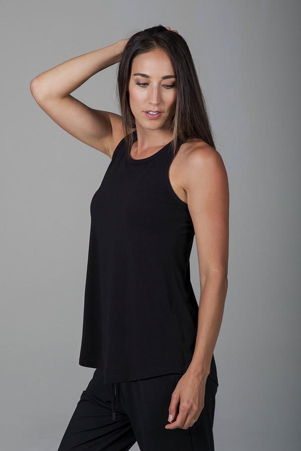 Long and Loose Yoga Racerback (Black)