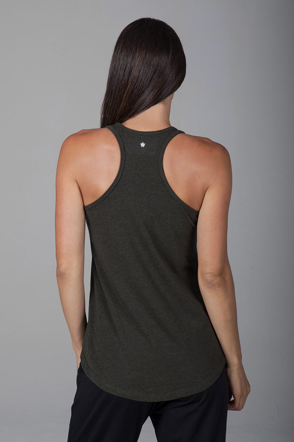 Long and Loose Yoga Racerback (Forest Night Heather)