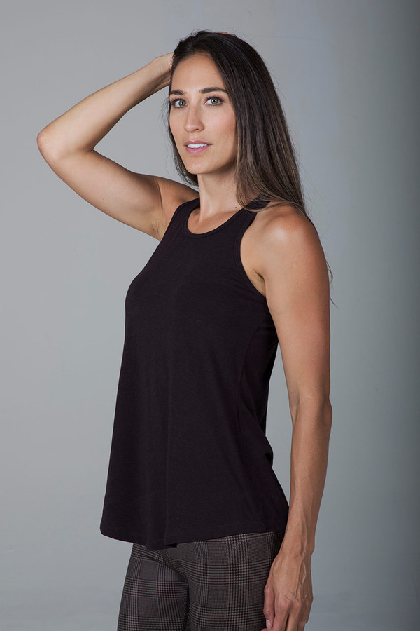 Long and Loose Yoga Racerback (Coffee)