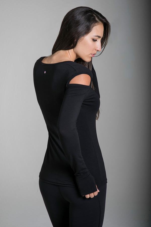 Cold Shoulder Ballet Top (Black)