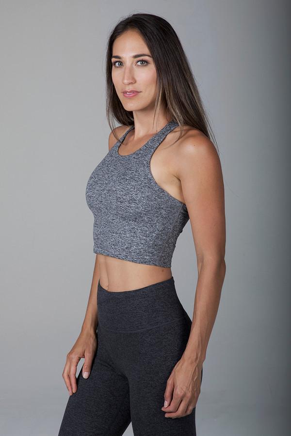 Grace Vinyasa Yoga Crop Top (Heather Grey)