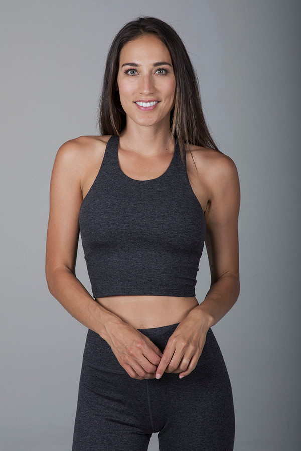Grace Vinyasa Yoga Crop Top (Charcoal Heather)
